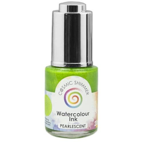 Cosmic Shimmer Pearlescent Watercolour Ink - Lime Sherbert